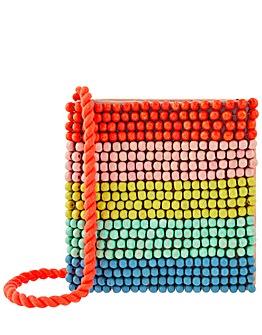 Accessorize Rainbow Beaded  Bag