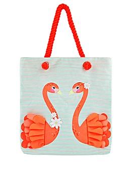Accessorize Flora Flamingo Shopper