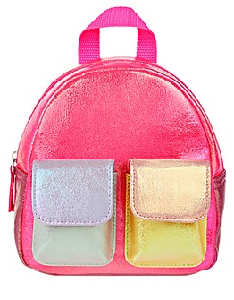 Accessorize Metallic Mini Backpack