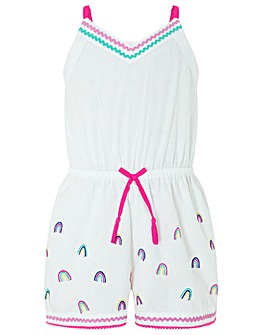 Accessorize Embroidered Rainbow Playsuit