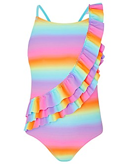 Accessorize Ombre Frill Swimsuit