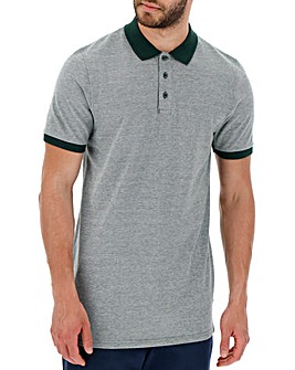 Forest Green Birds Eye Polo Long