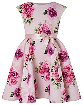 Monsoon Deena Floral Print Scuba Dress