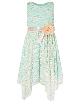 Monsoon Josie Mint Lace Dress