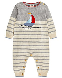 Monsoon Newborn Freddie Sleepsuit
