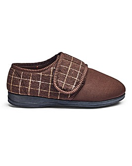 Comfort Touch & Close Slippers Extra Wide Fit