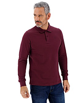 Mulberry Long Sleeve Embroidered Polo