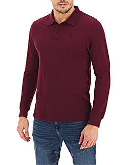 Mulberry Long Sleeve Embroid Polo Long