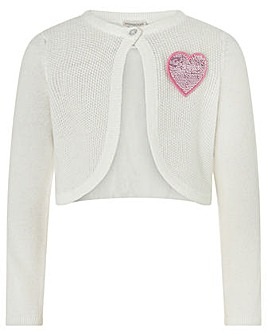 Monsoon Sequin Heart Badge Bolero