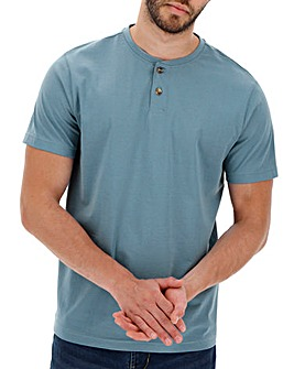 Mid Blue Grandad T-shirt Long