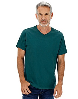 Teal V-Neck T-shirt
