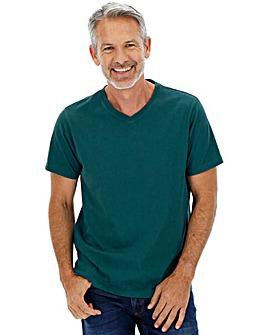 Teal V-Neck T-shirt Long
