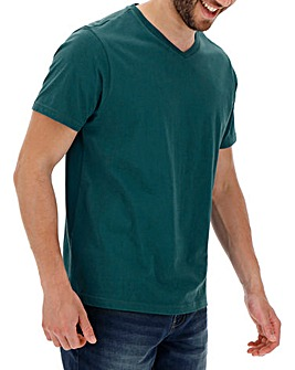 Teal V-Neck T-shirt Long