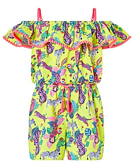 Accessorize Bardot Jungle Print Playsuit