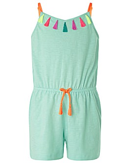 Accessorize Tassel Jersey Playsuit