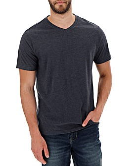 Denim Marl V-Neck T-shirt