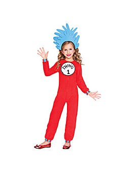 Thing One And Two Jumpsuit Costume