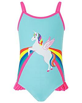 Accessorize Retro Unicorn Print Swimsuit