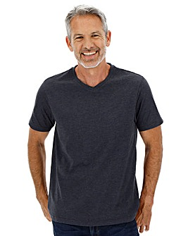 Denim Marl V-Neck T-shirt Long