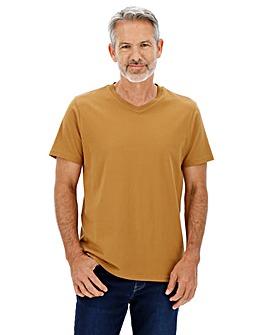 Ochre V-Neck T-shirt