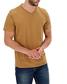 Ochre V-Neck T-shirt Regular