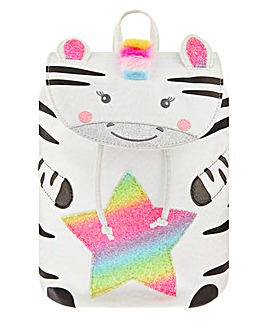 Accessorize Zoe Zebra Rainbow Backpack