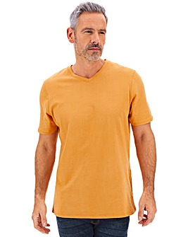Ochre V-Neck T-shirt Long