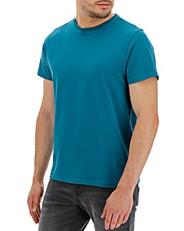 Teal Crew Neck T-shirt Long