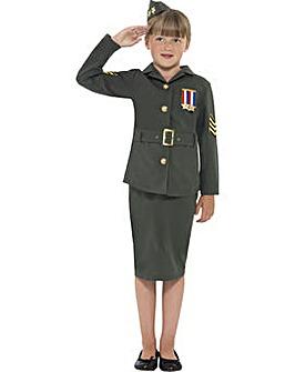 Child WW2 Army Girl Costume