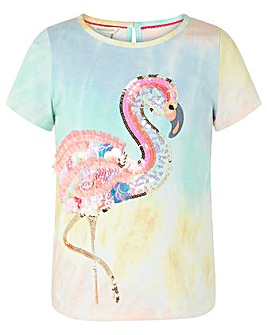 Monsoon Frieda Sequin Flamingo Tee