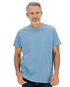 Mid Blue Crew Neck T-shirt Long