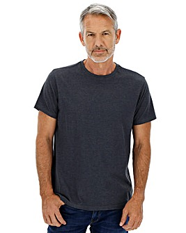 Denim Marl Crew Neck T-shirt Long