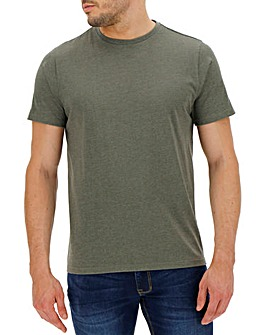 Khaki Marl Crew Neck T-shirt Long