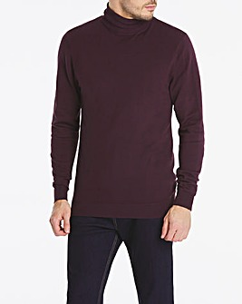 Aubergine Roll Neck Jumper