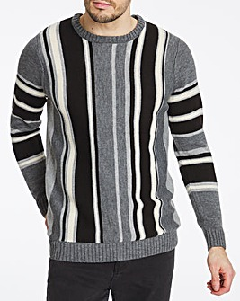 Grey Vertical Stripe Jumper
