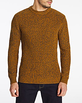 Mustard Crew Neck Jumper Long