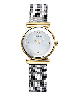 Sekonda Ladies Two Tone Watch With Mesh Strap