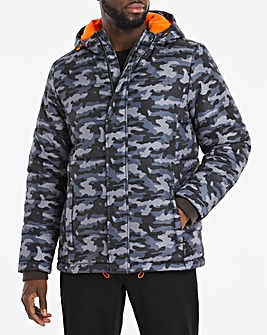 Camo Quilted Padded Puffer Jacket