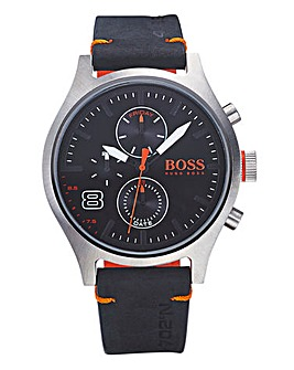 Boss Orange Gents Leather Strap Watch