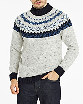 Grey Chunky Fairisle Jumper