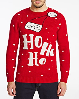 Christmas Slogan Light Up Jumper