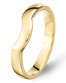 9 Carat Gold Shaped Fitted Wedding Band