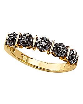 9Ct Black Diamond Ring