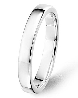 Argentium Silver 3mm Ladies Band