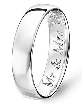 Argentium Silver 5mm Plain Wedding Band