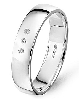 Argentium Silver Gents Wedding Band