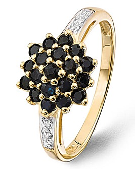 9 Carat Yellow Gold Sapphire Ring