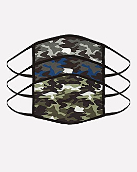 3 Pack Camo Face Coverings