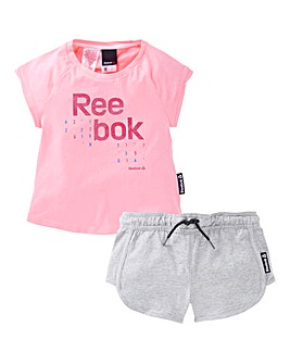 Reebok Girls T-Shirt And Shorts Set