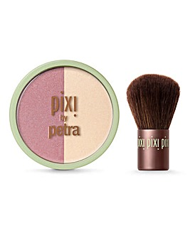 Pixi Beauty Blush Duo & Kabuki Brush